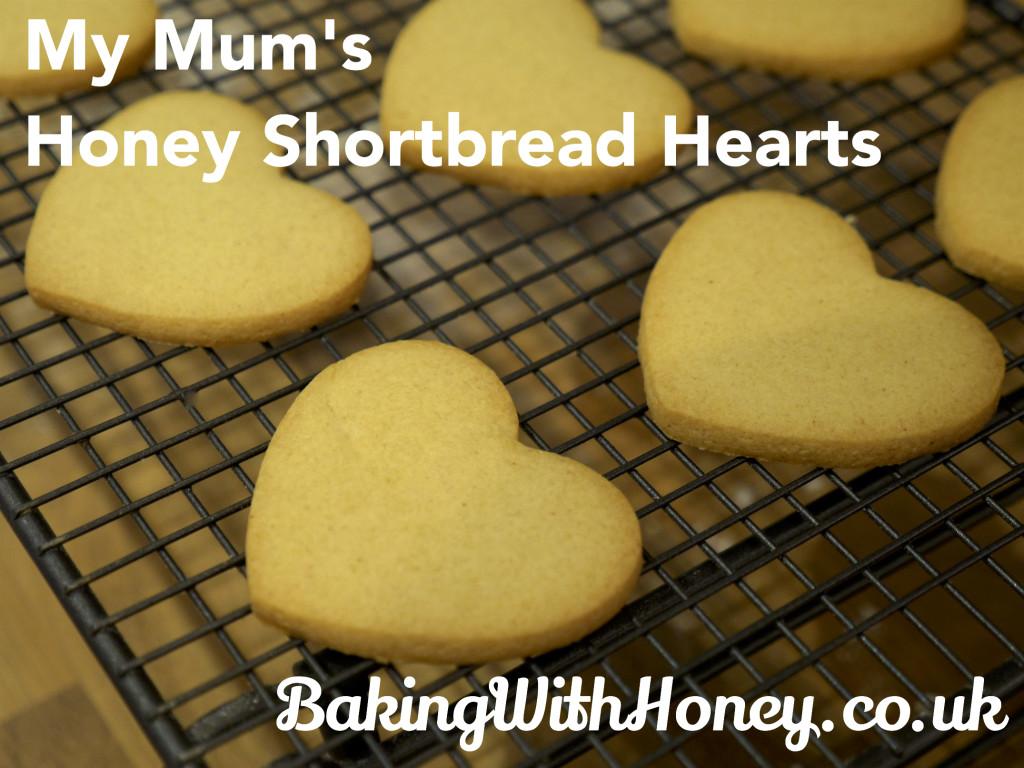 Honey Shortbread Hearts