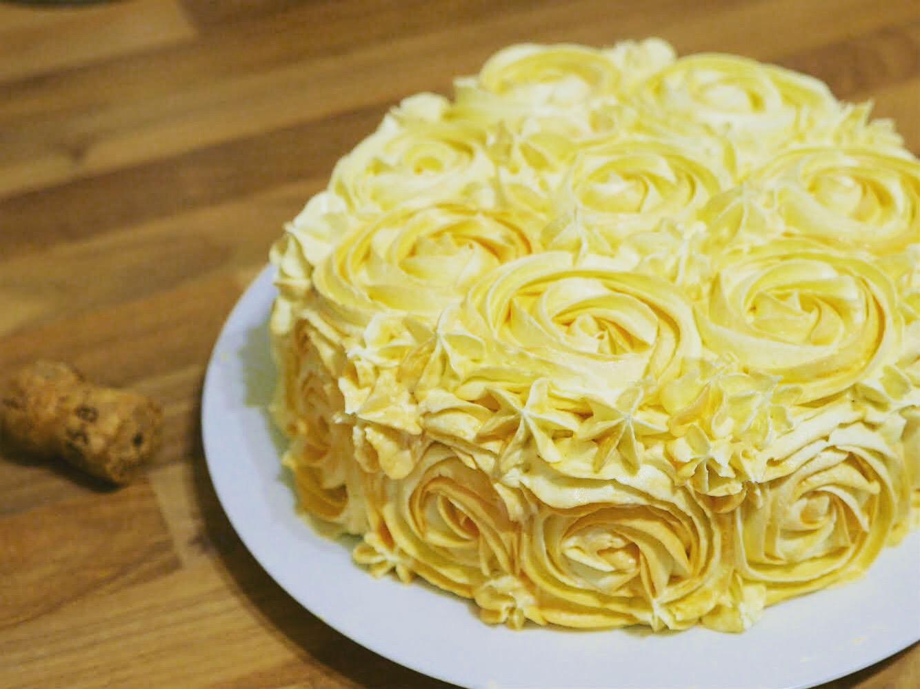 Peach Bellini Party Cake