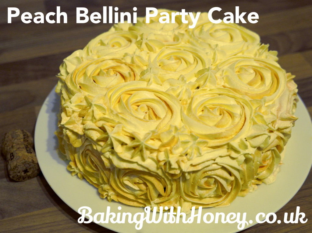 Peach Bellini Party Cake