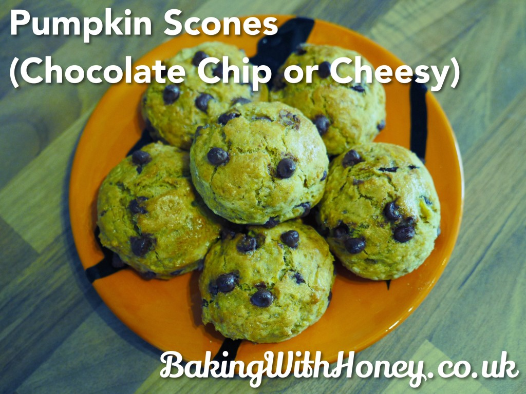 Pumpkin Scones (Chocolate Chip or Cheesy)