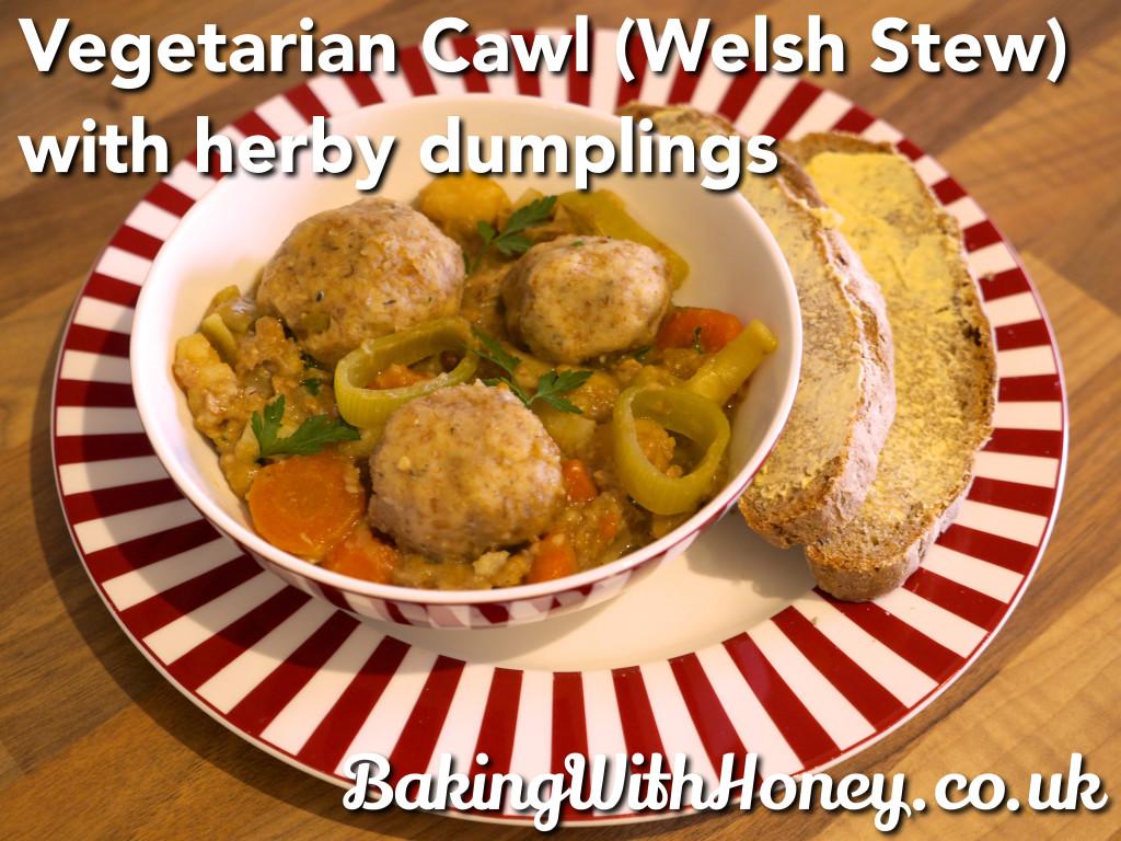 Vegan Vegetarian Cawl recipe (Welsh Stew) with herby dumplings