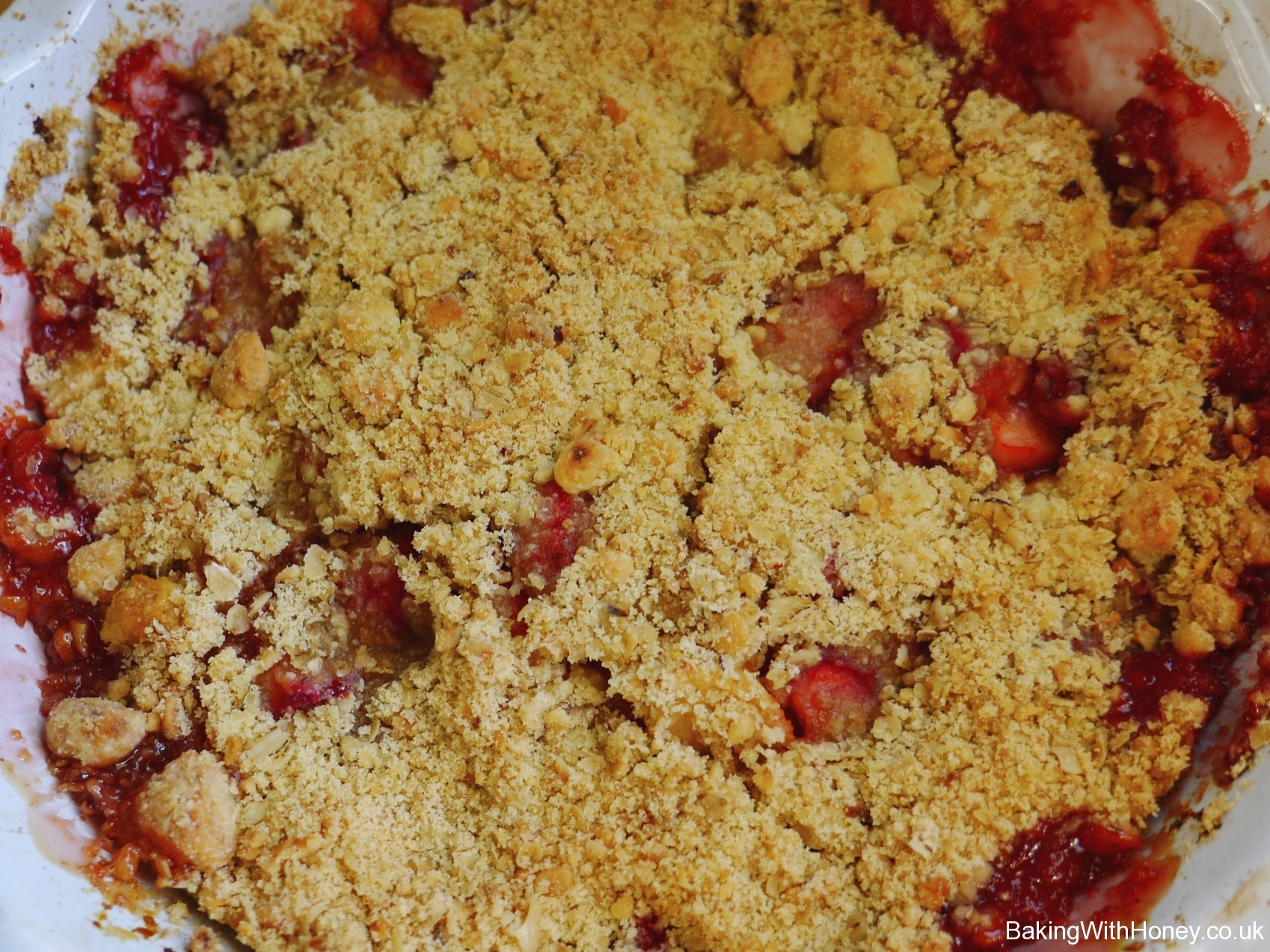 Strawberry & Caerphilly Cheese Summer Crumble