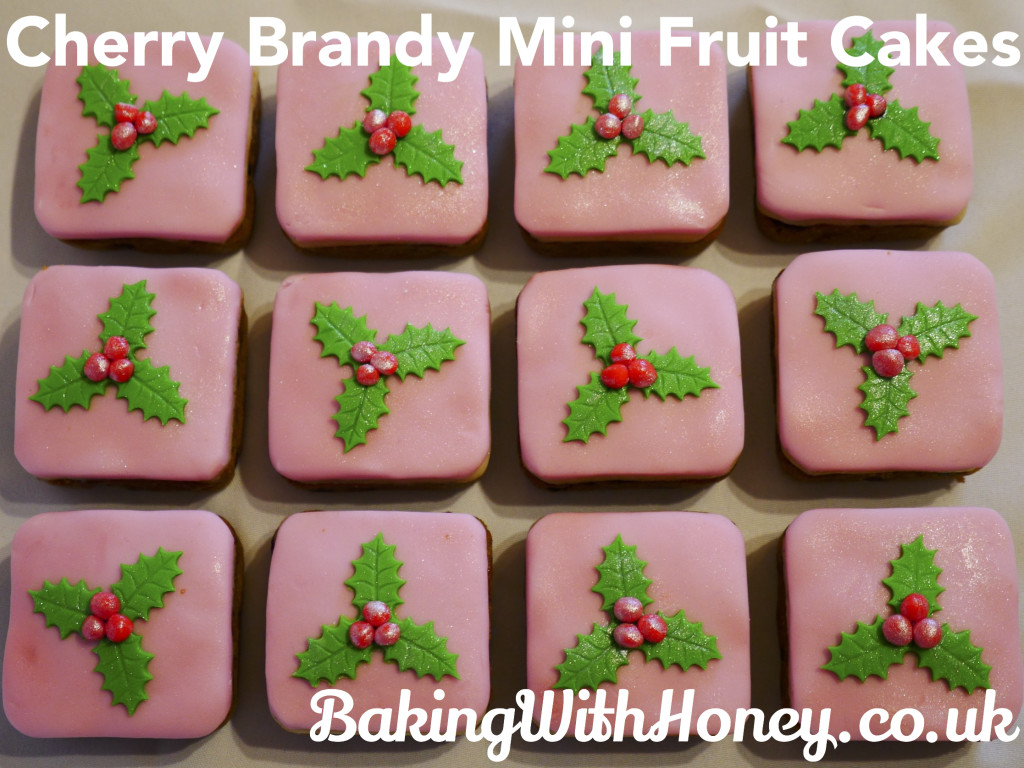 Cherry Brandy Mini Fruit Cakes Christmas