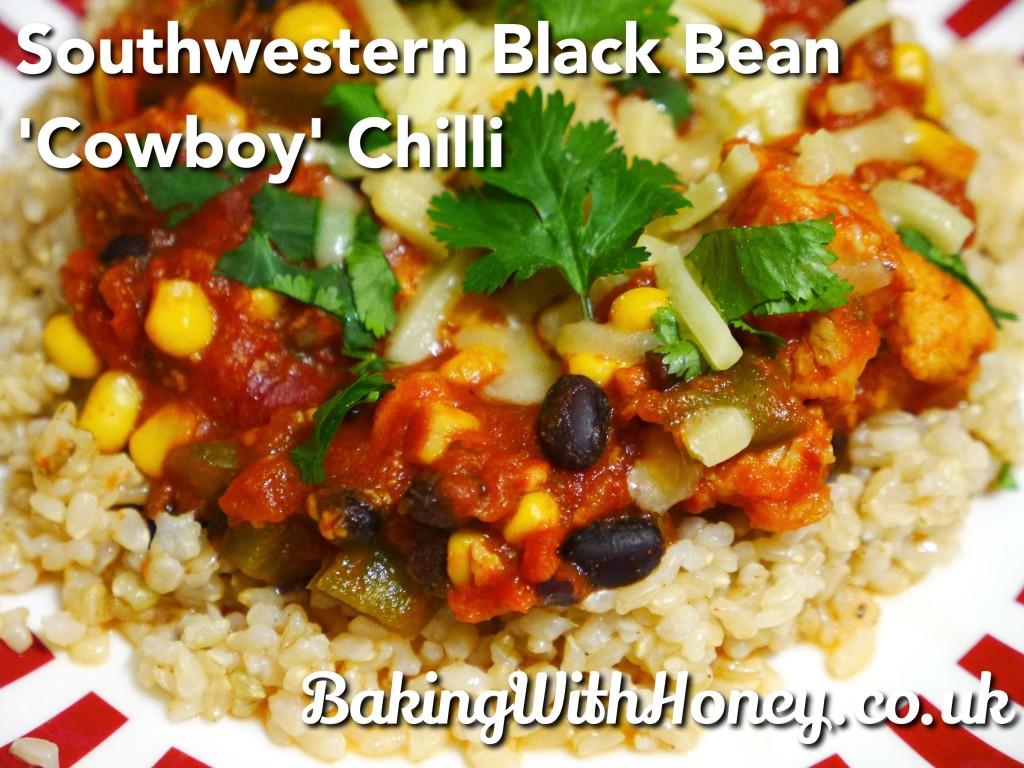 """Southwestern Black Bean """"Cowboy"""" Chilli"""