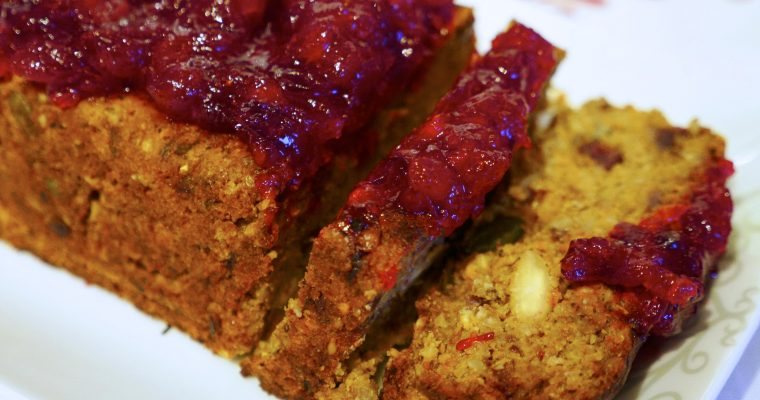 Fabulous Festive Nut Roast With Cranberry Sauce