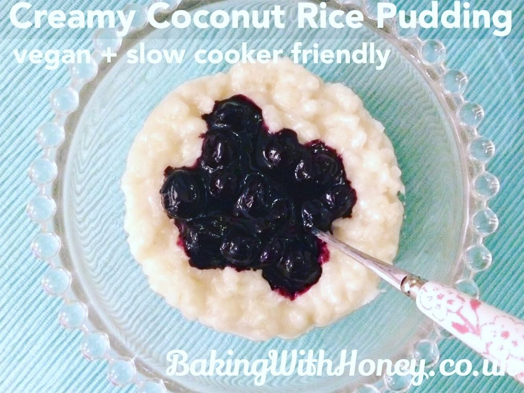 vegan coconut rice pudding slow cooker