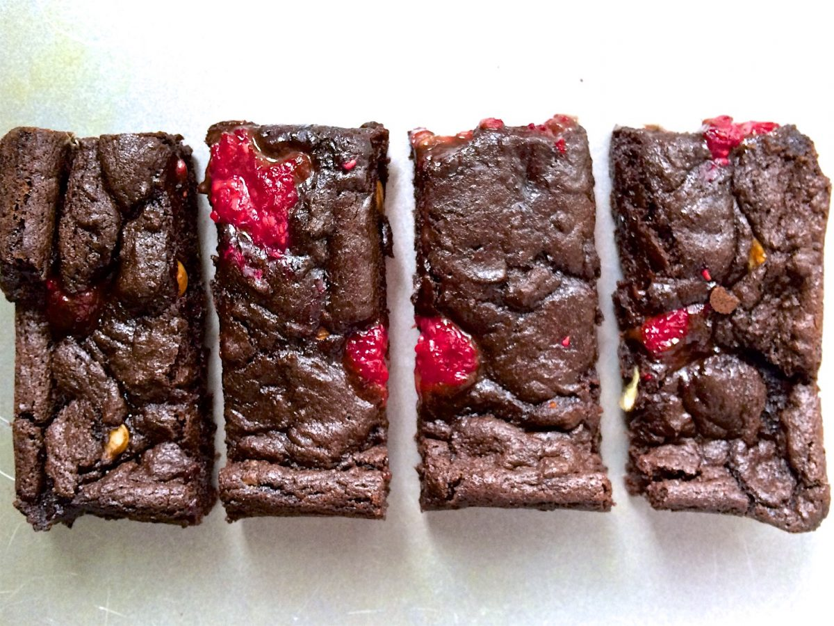 Raspberry and Hazelnut Best Vegan Brownies Ever