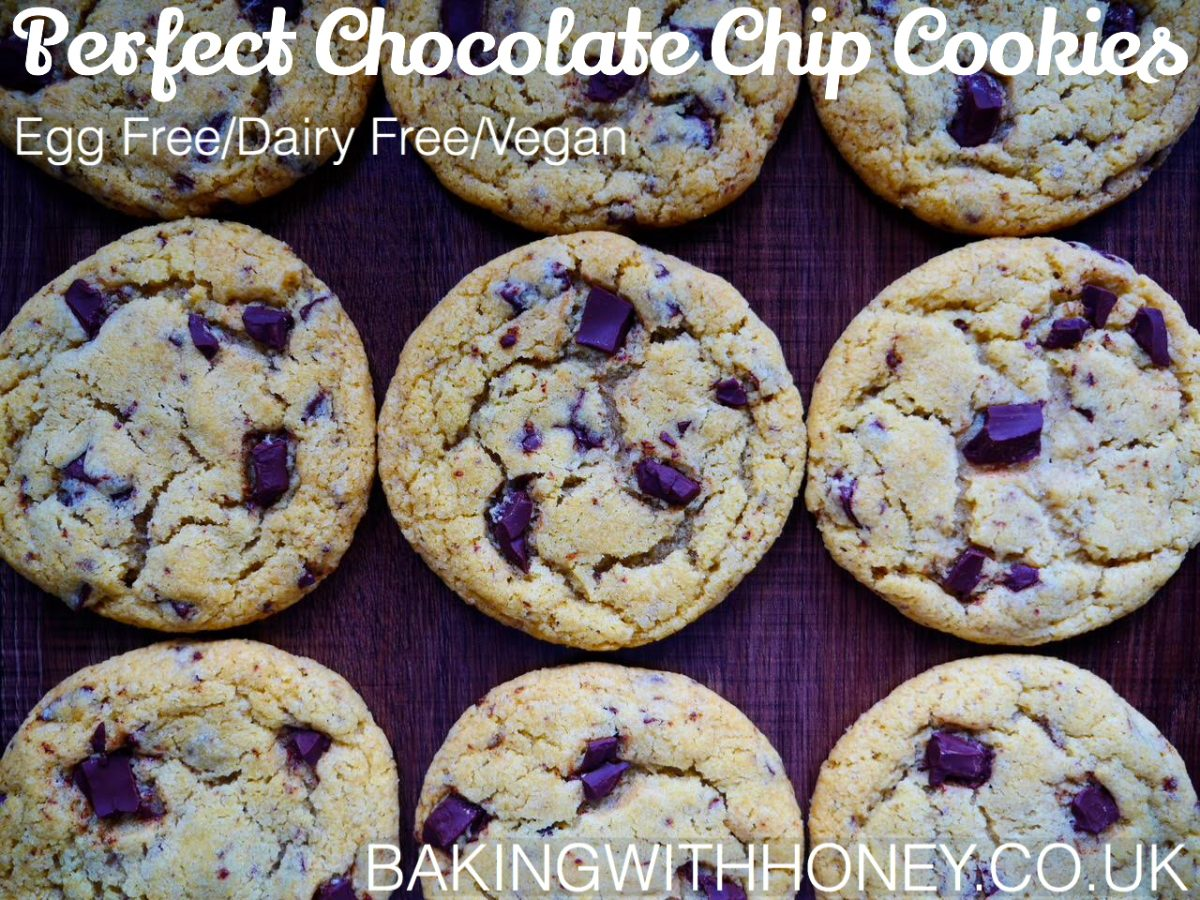 Perfect Chocolate Chip Cookies Egg Free Dairy Free Vegan