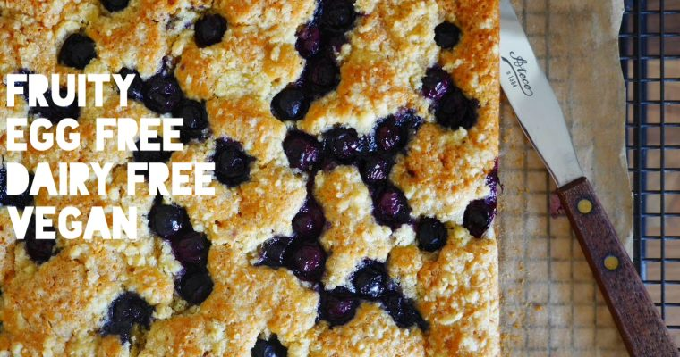 Blueberry Crunch Slice