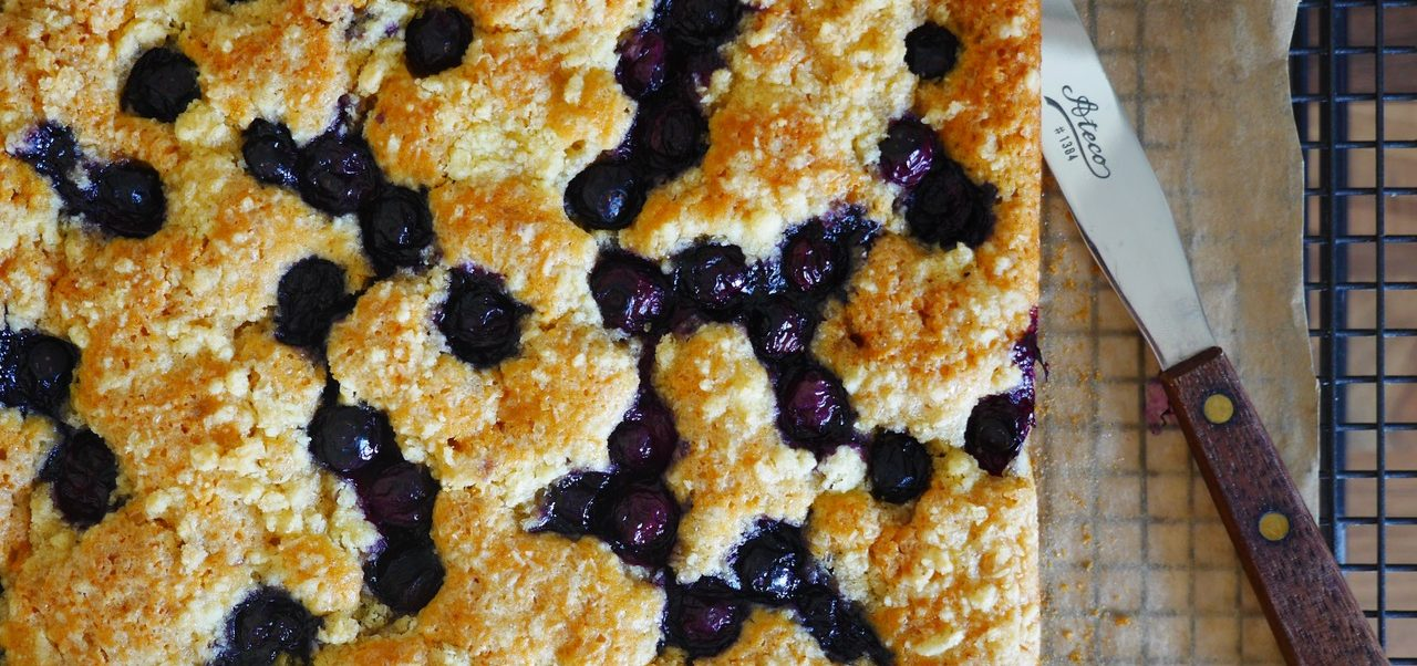 New: Blueberry Crunch Slice