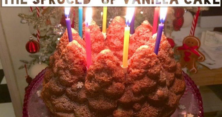 Veganising Nigella: The Spruced Up Vanilla Cake