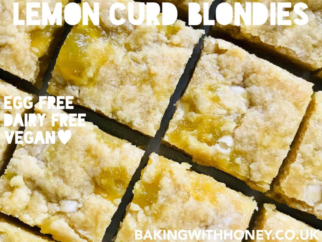 Vegan Lemon Curd Blondies Recipe