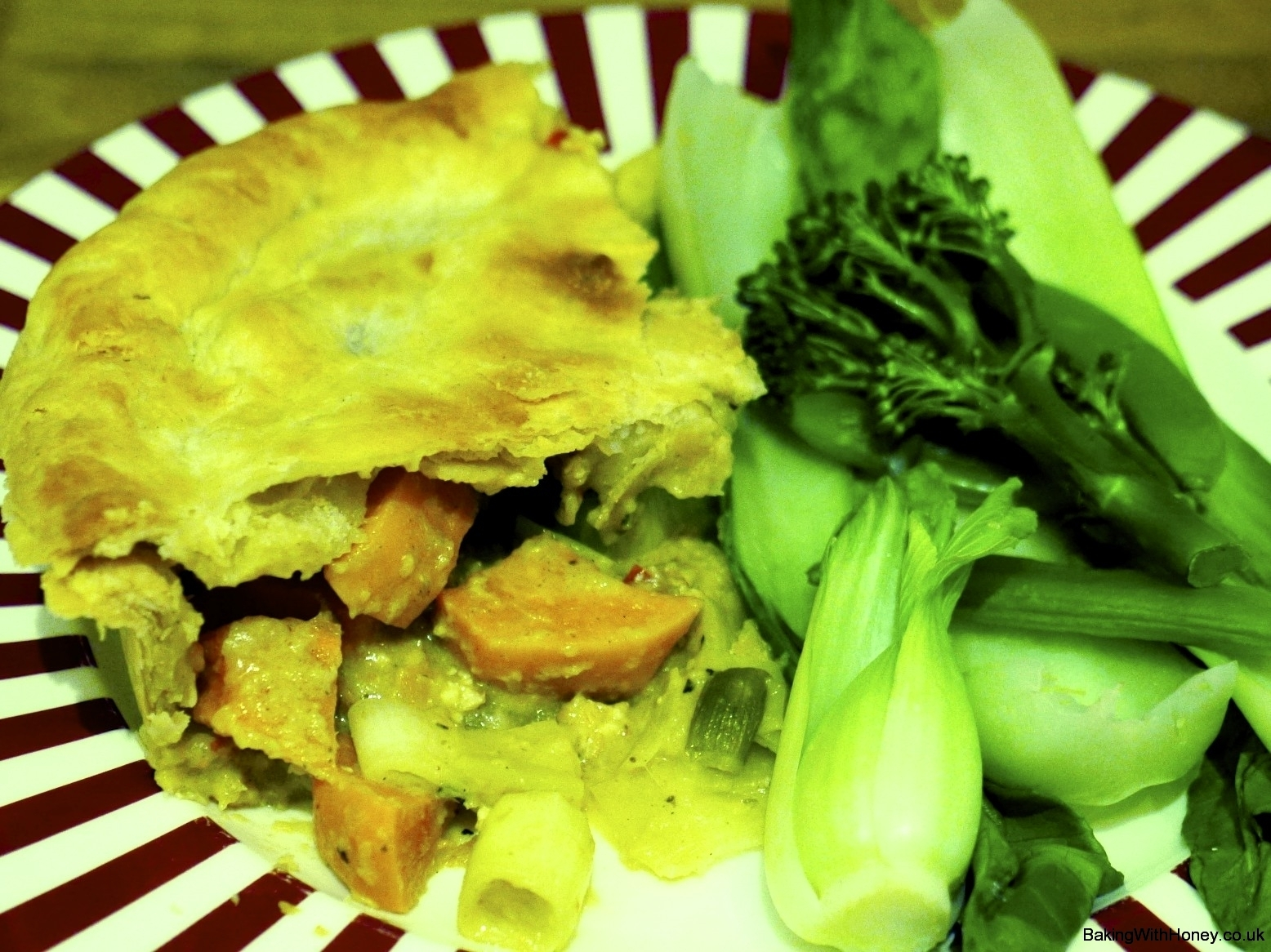 Flaky Tofu Thai Pie