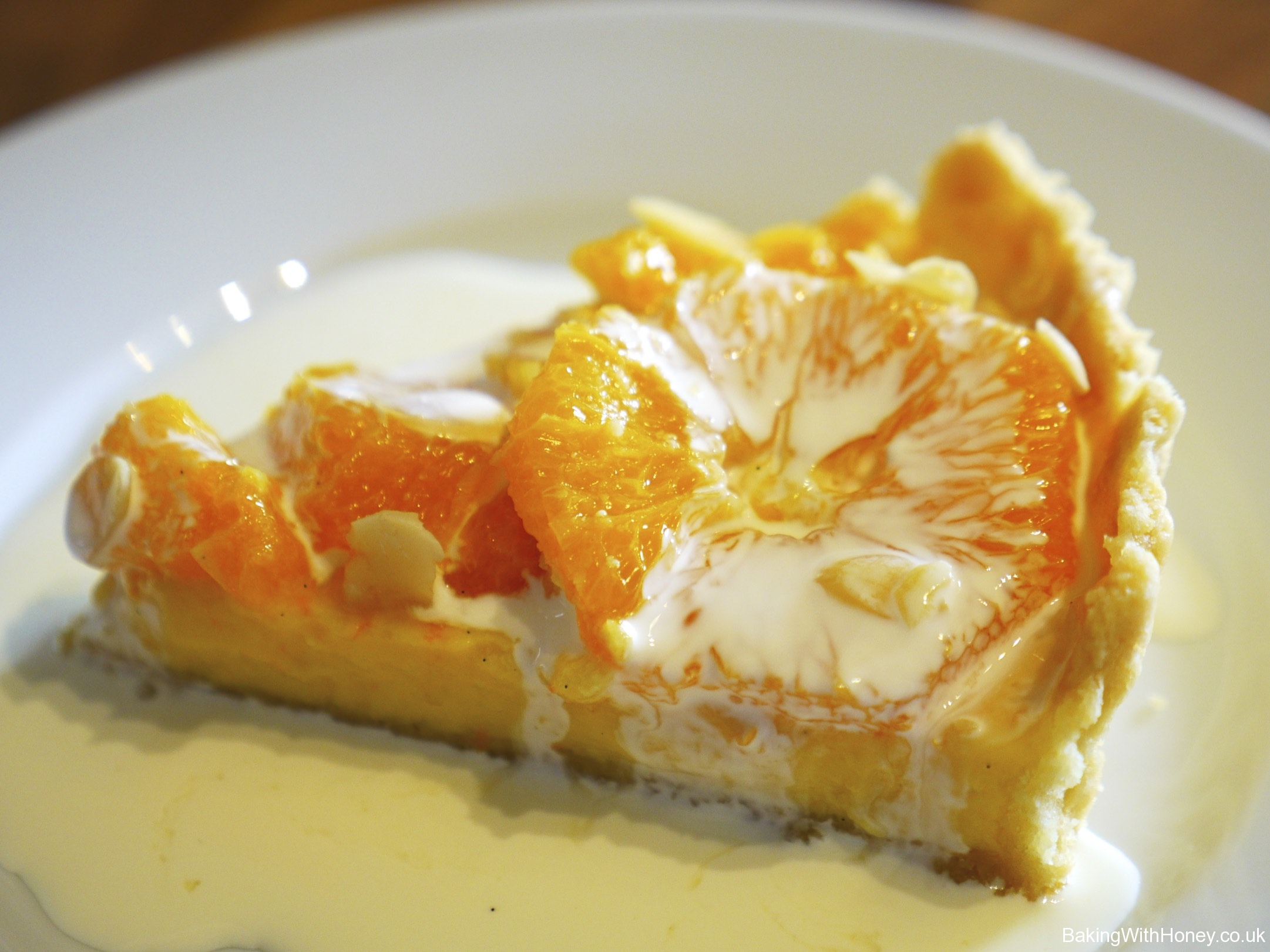 Caramelised Orange & Almond Tart