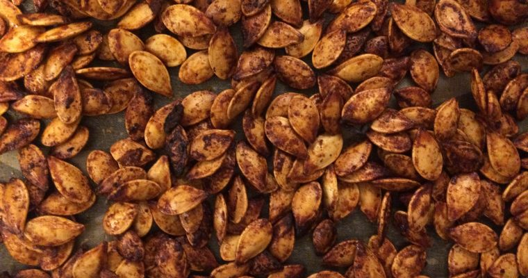 Sweet + Spicy Roasted Pumpkin Seeds