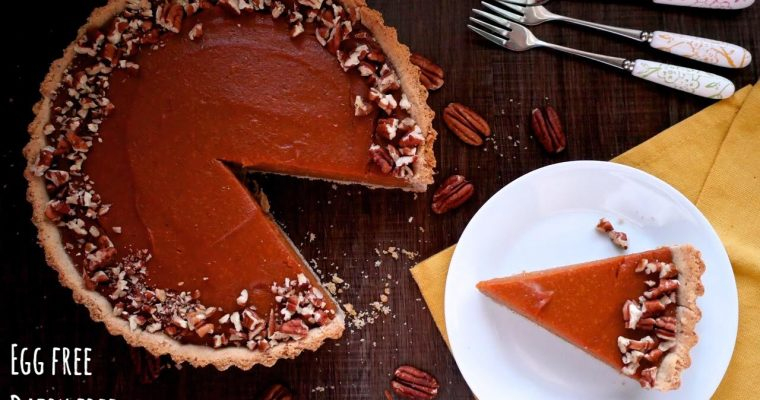 Pumpkin Pie With A Pecan Crust