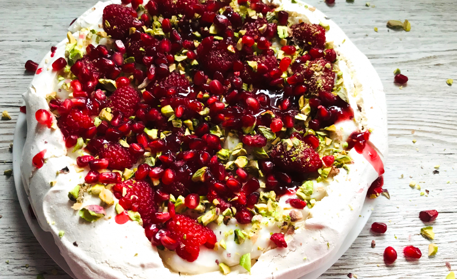 Malabi Rose & Raspberry Vegan Pavlova